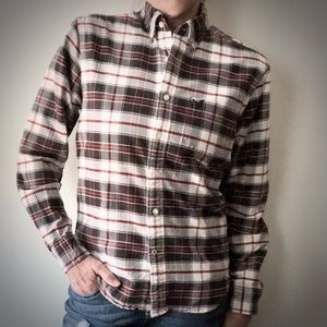 AOE Classic Fit Black/White/Red Plaid Button Down